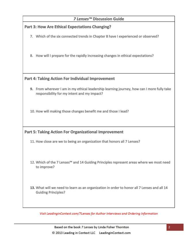 7 Lenses Discussion Guide Page 2
