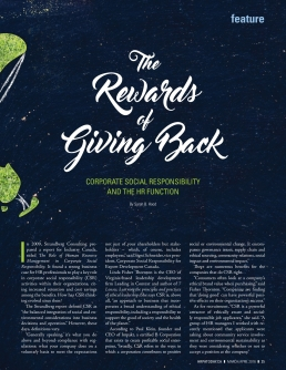 HR Professional The Rewards of Giving Back